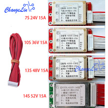 7S 24V 10S 36V 13S 48V 14S 52V Lithium Li ion Lipo ion Battery Protection Board Charge Common Port 15A ebike BMS PCM Packs motor