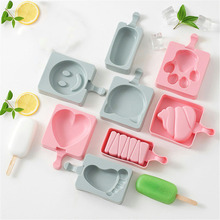 16 Style DIY Silicone Ice Cream Mold Popsicle Molds Popsicle Maker Holder Frozen Ice Mould with Popsicle Sticks Lid Kitchen Tool