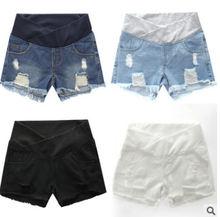 Шорты для беременных женщин Летняя одежда джинсовые шорты с