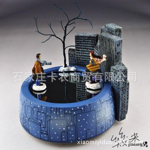 Envío Gratis Jimi imán caja de música amantes rotativos románticos caja de música regalo de cumpleaños regalos de navidad - 4