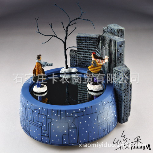 Free shipping Jimi magnet music box romantic rotating lovers music box birthday gift Christmas gifts - 4