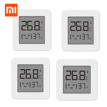 Orijinal XIAOMI Mijia Bluetooth termometre 2 kablosuz akıllı elektrik dijital higrometre termometre ile çalışmak Mijia APP