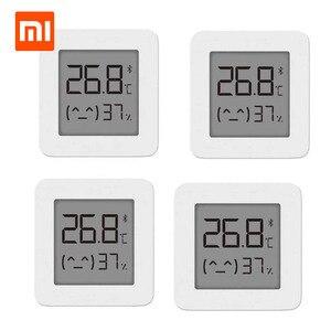 Image 1 - XIAOMI termómetro Digital Mijia 2, inalámbrico por Bluetooth, higrómetro eléctrico inteligente, funciona con la aplicación Mijia