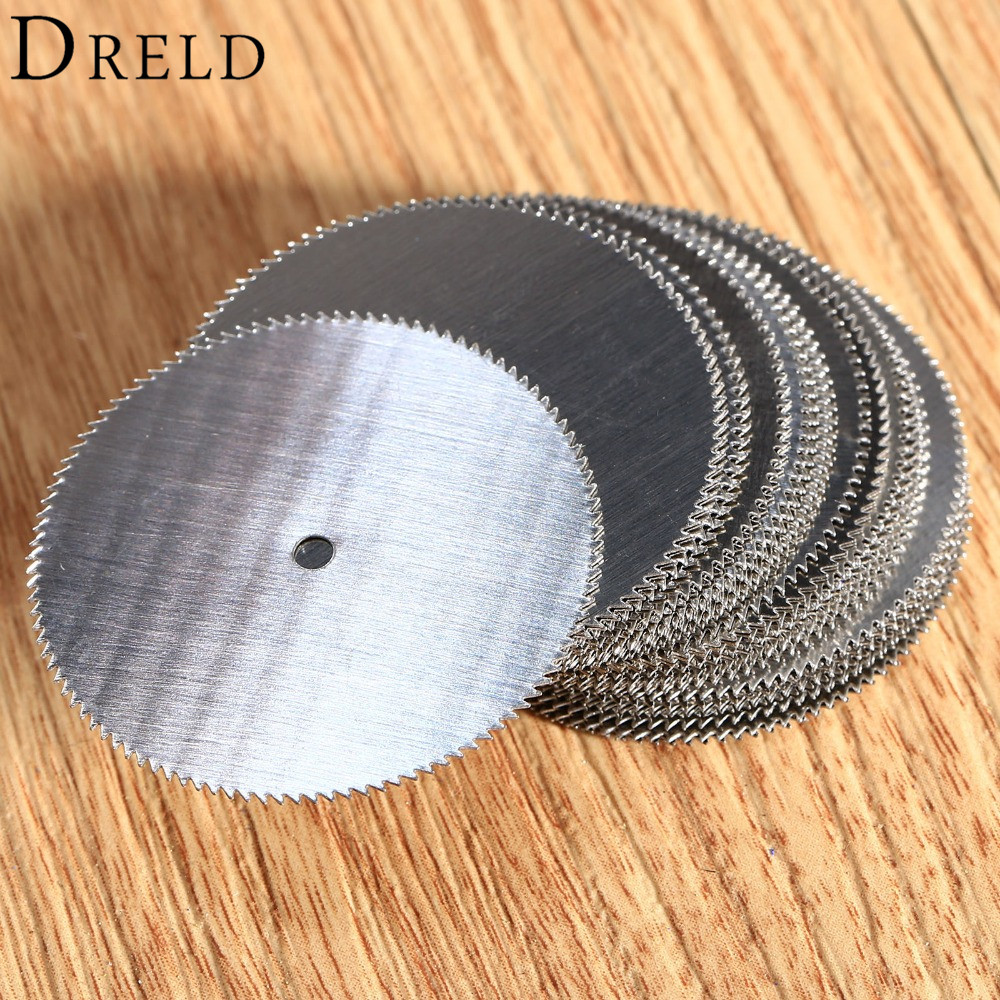 DRELD 20Pcs Dremel Accessories 32mm Mini Circular Saw Blades HSS Wood Cutting Disc For Dremel Rotary Tool Power Tool Ferramentas