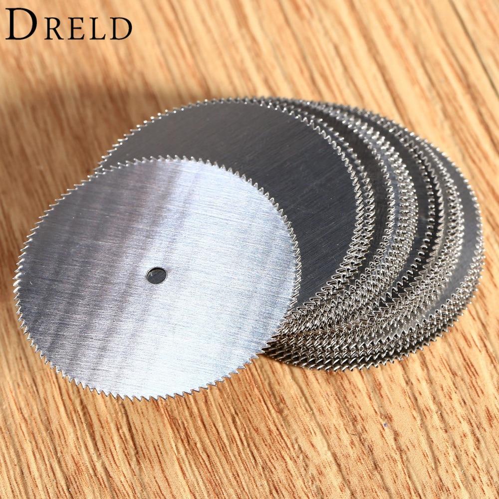 DRELD 20Pcs Dremel Accessories 32mm Mini Circular Saw Blades HSS Wood Cutting Disc For Dremel Rotary Tool Power Tool Ferramentas