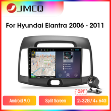 JMCQ Android 9.0 Car Radio Multimedia Player For Hyundai Elantra 4 HD 2006-2010 2 din GPS Navigaion 2G+32G RDS DSP Split Screen