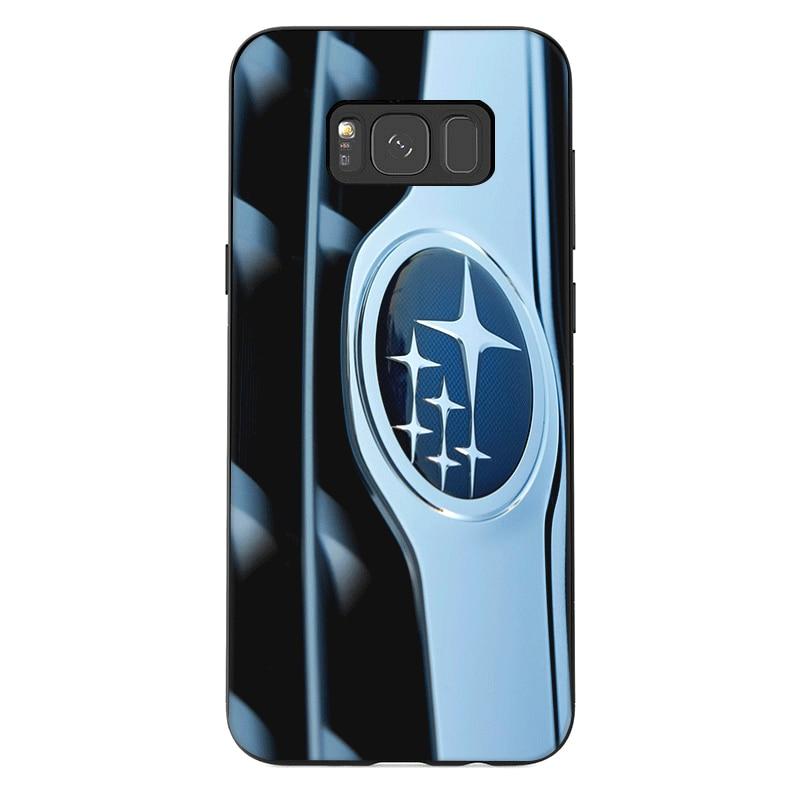 Мобильный чехол для телефона для samsung M10 M20 M30 M40 S6 S7 край S9 S8 S10 S10E Plus, Note 8, 9, 10, с симпатичными машинками Логотип Subaru