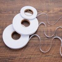 Rollo de tela adhesiva de doble cara para costura, cinta para dobladillo de costura para manualidades DIY, 50m, blanco y negro