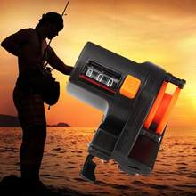 1 pçs 0-999m 6cm pesca linha de profundidade localizador contador calibre ferramenta de pesca comprimento contador enfrentar k9z2