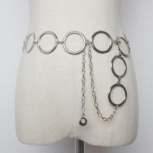 Big Ring Chain Belt Women's Decoration Korean-style Simple Versatile Chain Leath