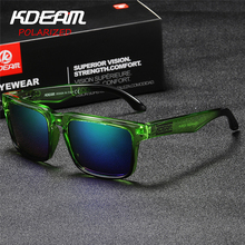Kdeam Polarized summer Sunglasses Men Reflective Coating Square Sun Glasses Women Brand Designer UV400 CE certification