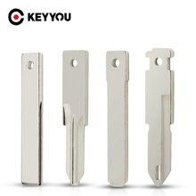 KEYYOU-llave de control remoto para coche, hoja de llave Original sin cortar para Renault, Nissan, Citroen, Peugeot, VAC102, VA2, HU83, NE72, 10 Uds.