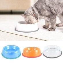 цена на Pet Feeder Portable Pup Bowl Plastic Round Pet Bowl Anti-skid Dog Tableware Easy Cleaning Pet Bowl For Cat Dog Health