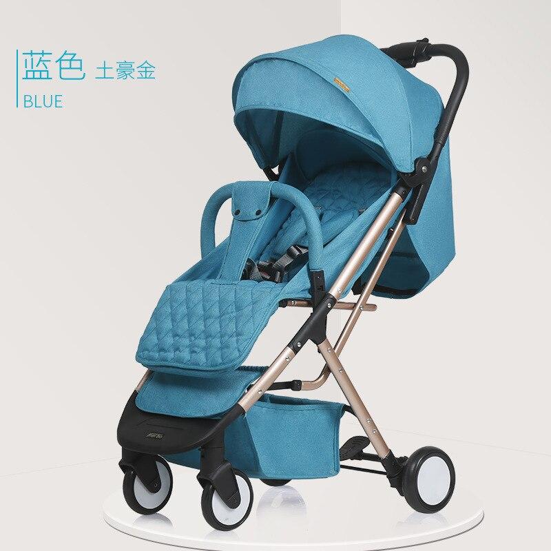 Lightweight stroller folding portable baby stroller umbrella newborn umbrella carrige can sit reclining free ship on the plane