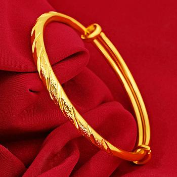 14 K złote bransoletki biżuteria dla kobiet nie znikną złoto Pulseira Feminina Bizuteria ślub kamień 14 K złoto Trendy bransoletki kobiety tanie i dobre opinie HOYON GDTC NONE Żółte złoto Rocznica GEOMETRIC 14K gold jewelry diamond bangle Inne Sztuczne materiału China Mainland