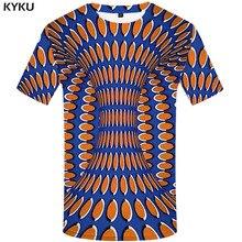 KYKU psychedelic t shirt men 3d tshirt Short sleeve Dizziness print t-shirt Funny T shirts Colorful mens clothing summer tops стоимость