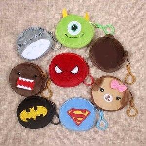 Cartoon Superman Spiderman Totoro Children Zipper Coin Purses Girls Mini Change Plush Purse Mini Wallet Small Pouch Handbag Bag(China)