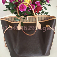 Hohe Qualität Damen Mode Klassische Neverf011 Große Kapazität Tote Tasche Frauen Handtasche Verfärbung Leder Shopping Schulter Taschen