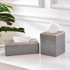 Керамический креативный индивидуальный светильник, роскошная стильная тканевая коробка журнальный столик для гостиной, простые бумажные ...