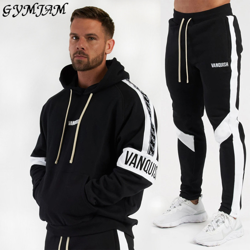 Streetwear Casual Men's Suit 2020 New Men's Hoodie Plus Men's Trousers Jogger Outdoor Fashion Men's Clothing Sportswear