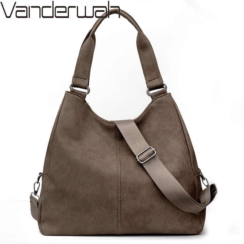 Vintage PU deri kadınlar için Crossbody çanta omuzdan askili çanta lüks çanta kadın çanta tasarımcısı büyük kapasiteli Casual Tote çanta kesesi