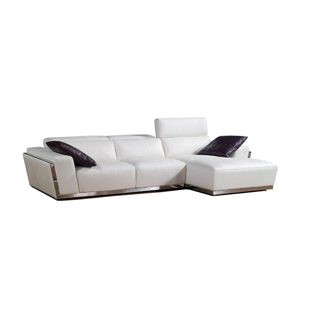 Cow Genuine Leather Sofa Set Living