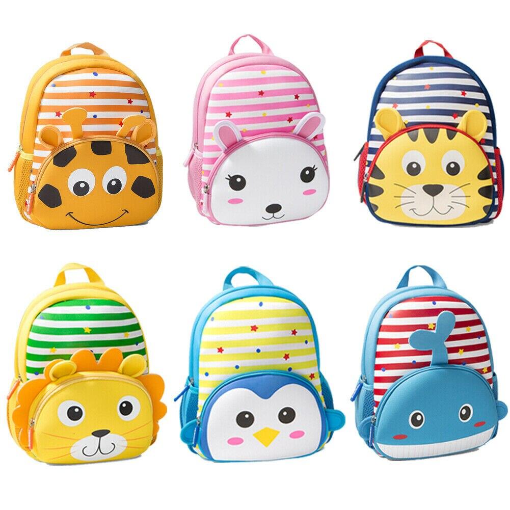New Boy 3D Cartoon Animal Backpack Children Cute Toddler Kid Girl Nursery kindergarten School Bag