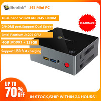 Beelink J45 4GB LPDDR3 128GB J4205 Genuine Windows10 Mini PC 2.4GHz+5.8GHz WiFi BT4.0 Support 4K H.265 fast charge IN Stock