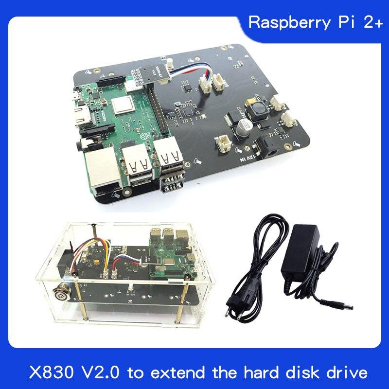 Raspberry Pi 2 3 B + Plus/3B X830 V2.0 Placa De Expansión HDD Con Función De Apagado De Veilig, 3,5