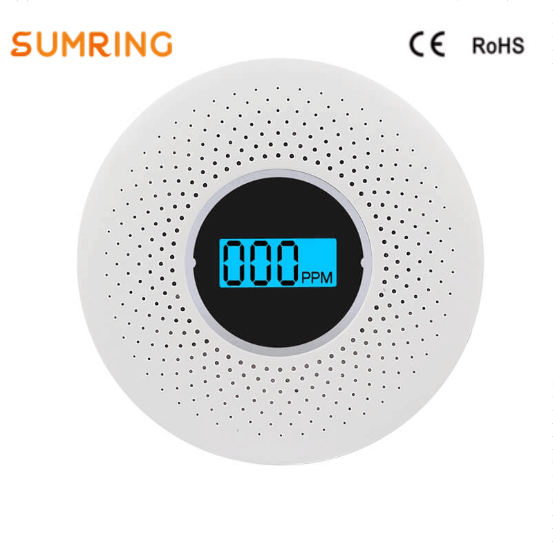 Smoke Detector And Carbon Monoxide With Display Battery Supply