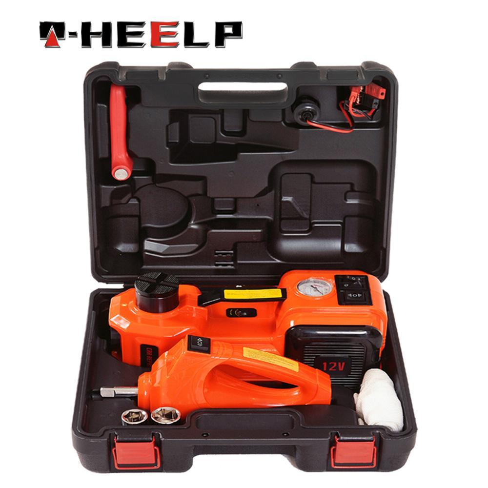 E-HEELP 5 ton carro elétrico jack suv jacks piso hidráulico chave de impacto 12 v elevador auto emergência pneu mudança levantamento ferramenta reparo
