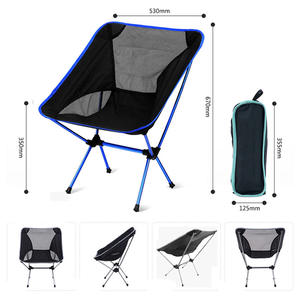 Beach-Chair Lightweight Folding Fishing Ultra-Light Outdoor Portable Camping Red Dark-Blue