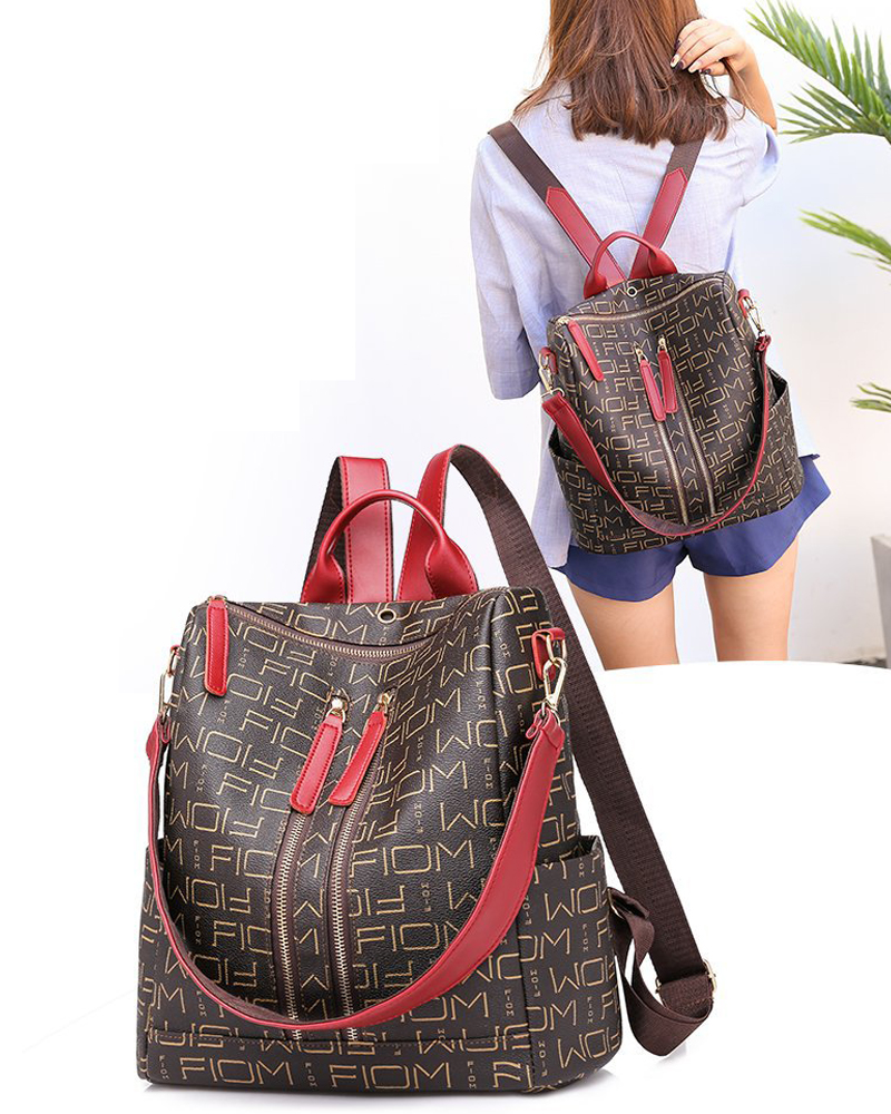 Ladies Bag Leisure Travel Backpack Ribbon Oxford Cloth Waterproof Leisure Bag Baby Travel Care Diaper Bag Fashion Trend Mummy