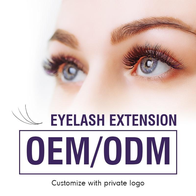 OEM/ODM 0,07 0,25 мм наращивание ресниц индивидуальный логотип индивидуальные ресницы Индивидуальный ярлык бесплатный дизайн индивидуальные рес