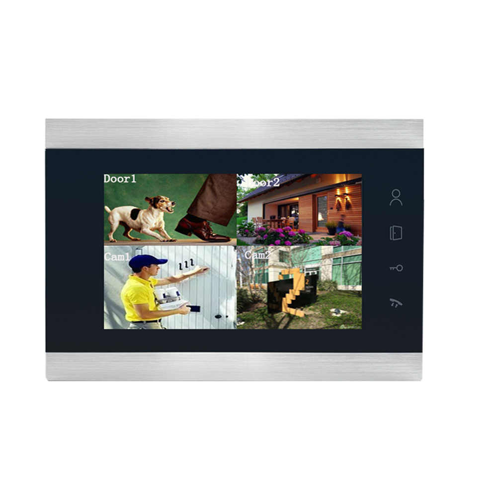 Dragonsview 무선 비디오 도어 폰 Wifi 스마트 IP 홈 인터콤 전자 잠금 7 인치 AHD 960P IR led