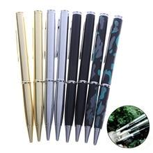 1 pçs 2in1 multifunções ferramenta ao ar livre faca caneta serradeira verniz esferográfica anti-lobo ferramenta
