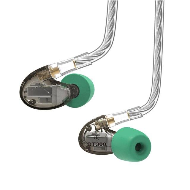 NICEHCK DT300 Pro 3BA lecteur dans loreille HIFI IEM écouteur détachable détacher le câble MMCX