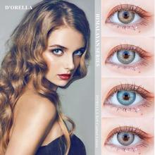 D #8217 ORELLA 1 para (2 szt ) NEW ARRIVAL HIMALAYAN Series kolorowe soczewki kontaktowe do oczu kosmetyczne soczewki kontaktowe kolor oczu tanie tanio DORELLA CN (pochodzenie) HEMA Piękne Uczeń 0 06-0 15mm 14mm MCK1 Dwa Kawałki