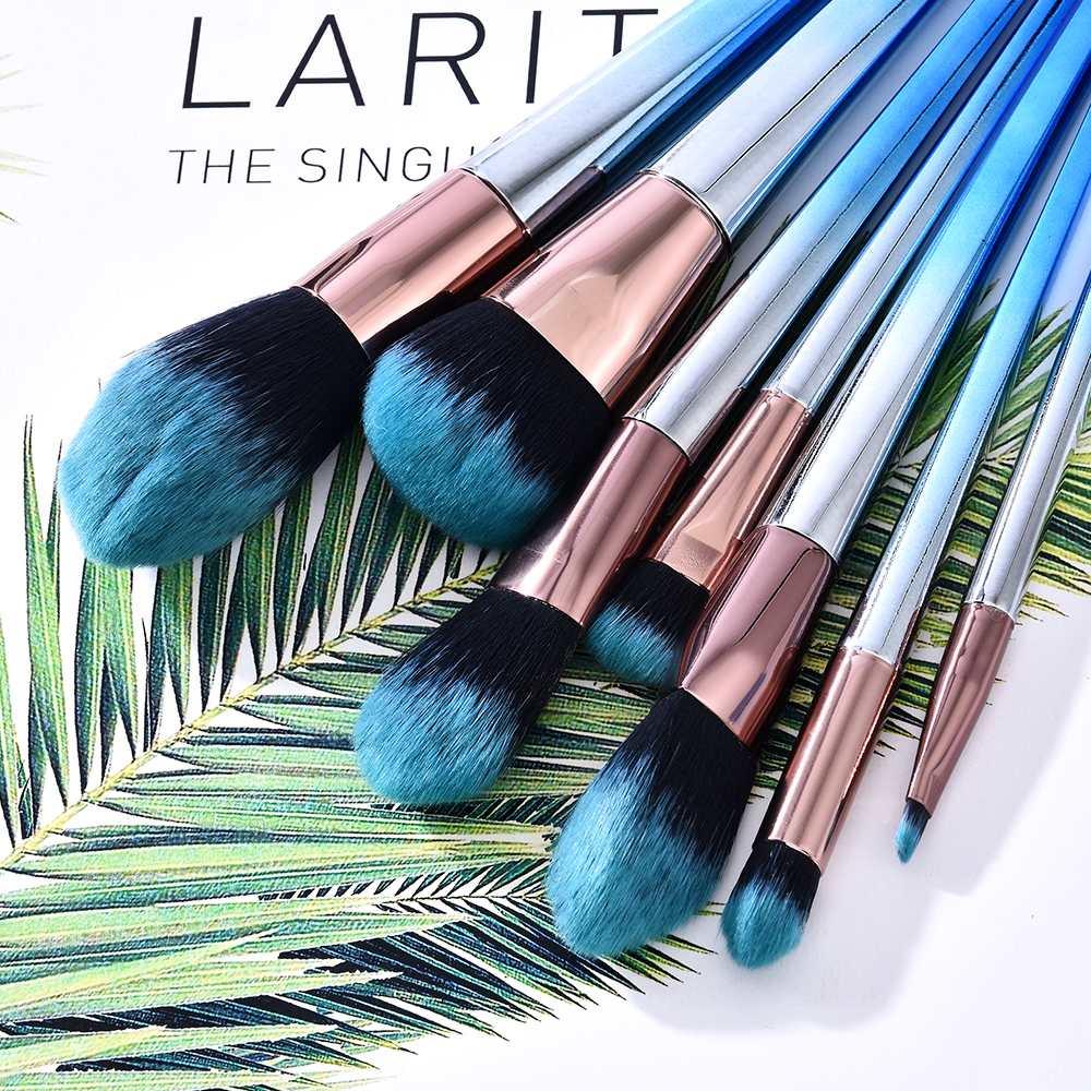 7pcs Makeup Brushes Set For Foundation Powder Blush Eyeshadow Concealer Lip Eye Make Up Brush With Bag Cosmetics Beauty Tools