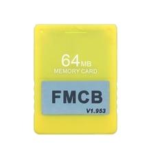 FMCB v1.953 hafıza kartı PS2 Playstation  2 ücretsiz McBoot kartı 8 16 32 64MB 270B