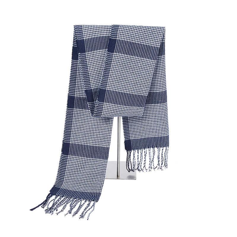 Größe 180*30cm Winter Schal Neue Weiche Kaschmir Schals Plaid Überprüfen Warme Längliche Fringe Unisex Mann frau schal Pashimina