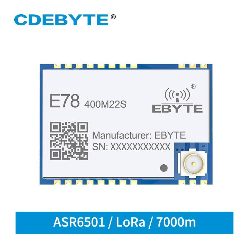 ASR6501 SoC LoRa 22dBm Wireless Transceiver LoRaWAN E78-400M22S SPI SMD IPEX Stamp Hole Connector TCXO RF Transmitter Receiver