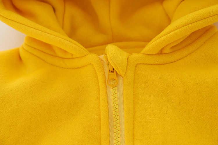 Зимняя плотная теплая куртка для маленьких мальчиков детская верхняя одежда с капюшоном с рисунком лисы детская зимняя куртка на флисе, толстовка с капюшоном для девочек и мальчиков, кардиган