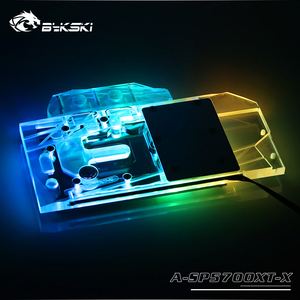 Image 2 - Bykski A SP5700XT X GPU Blocco di Raffreddamento Ad Acqua Per Sapphire RX 5700 XT di Impulso, MSI RX5700XT Mech/Evoke Dataland RX5700XT Diavolo Rosso