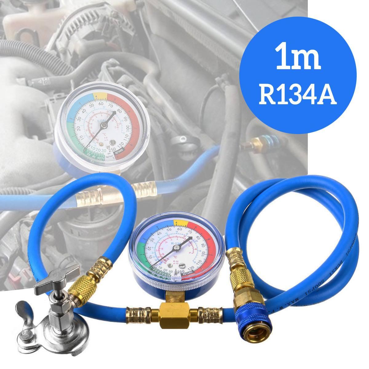 R134A tubo di misurazione ricarica aria condizionata con manometro valvola refrigerante tubo Auto accessori aria condizionata Auto