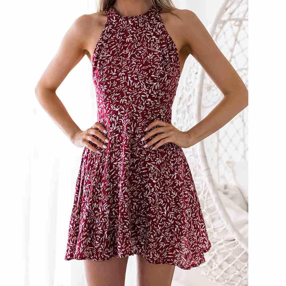 משלוח יען vestidos נשים קיץ שמלת תחבושות שמלת גבירותיי 2020 קיץ פרחוני הדפסת המפלגה שמלת החוף הקיצי #25