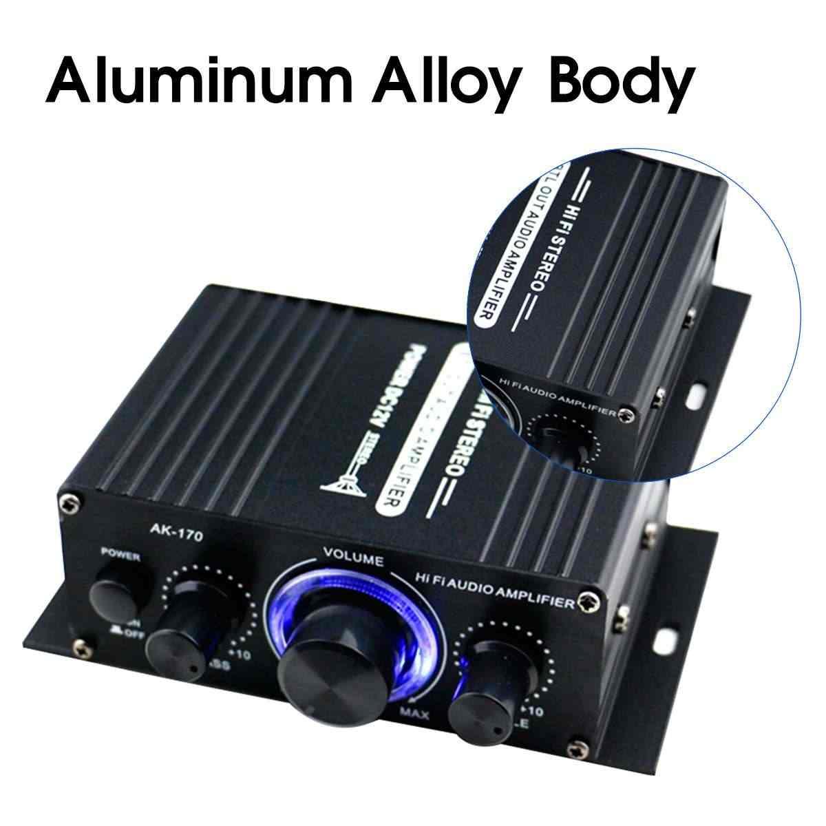 200 + 200 واط 12 فولت الصوت مكبر الصوت HIFI مكبر كهربائي بلوتوث ستيريو للسيارة الموسيقى مكبرات الصوت راديو FM USB/TF/AUX