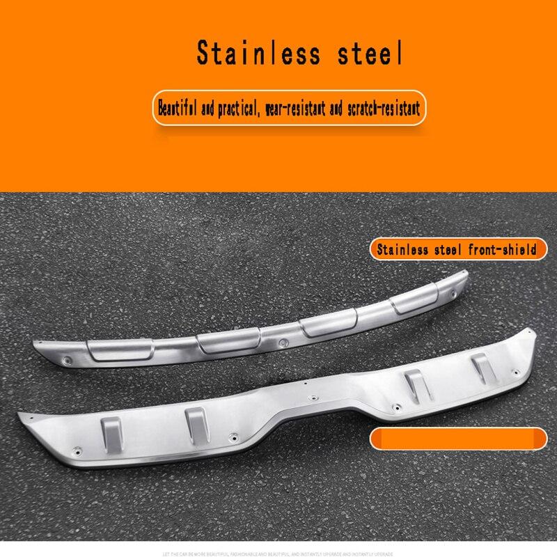 Украшением специальный задний бампер для передние и задние защитные решетки для Toyota CHR нержавеющая сталь ограждающий брус все включено защ...