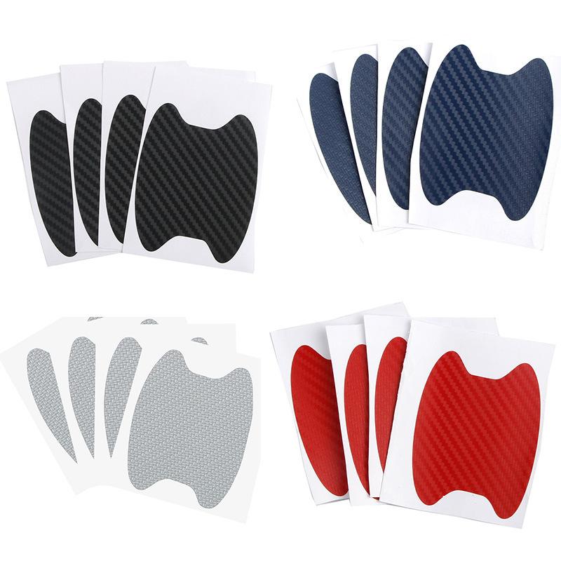4 шт защитные наклейки на дверные ручки автомобиля