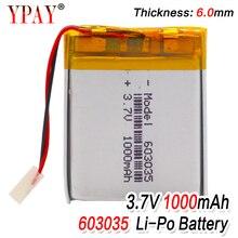 цена на 3 line Liter energy battery 3.7V lithium polymer battery 603035 100mAh game machine MP3 MP4 MP5 lithium battery GPS navigator